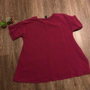 Agnes & Dora Tops - Agnes & Dora   s   berry color tunic with pockets